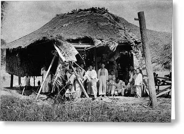 Lepers In The Philippines Greeting Card by National Library Of Medicine