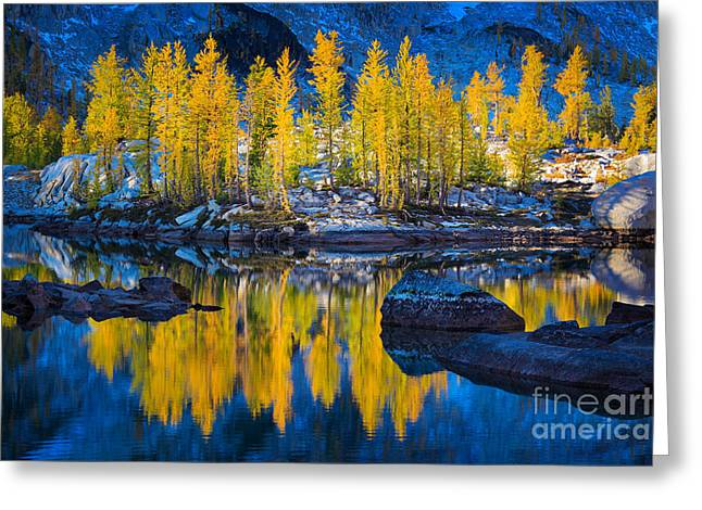 Leavenworth Greeting Cards - Leprechaun Tamaracks Greeting Card by Inge Johnsson