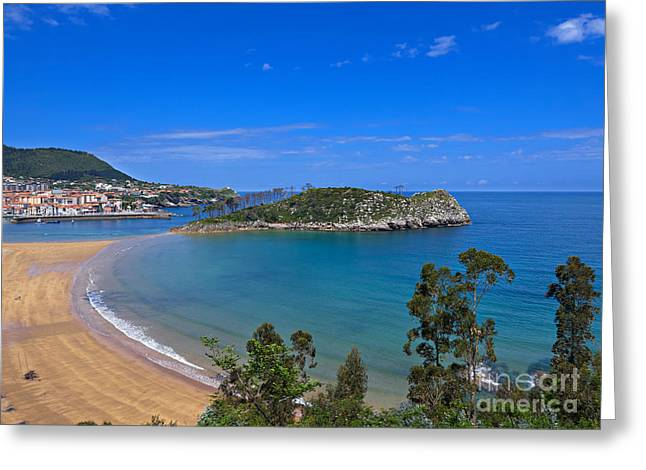 Port Town Greeting Cards - Lequeitio in Basque Country Spain Greeting Card by Louise Heusinkveld