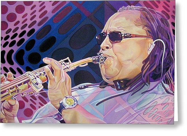 Leroi Moore Greeting Card by Joshua Morton