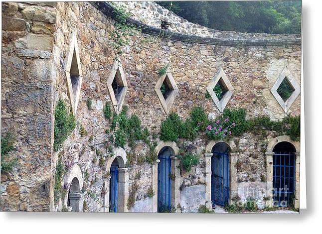 South Of France Greeting Cards - Les Bains Romain Greeting Card by France  Art