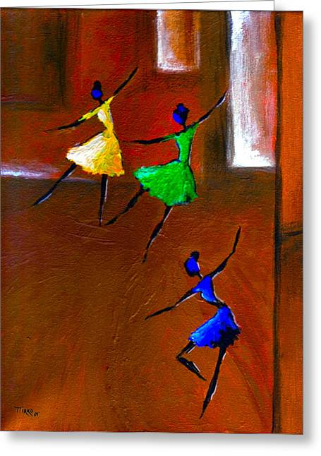 Les Ballerines Greeting Card by Mirko Gallery