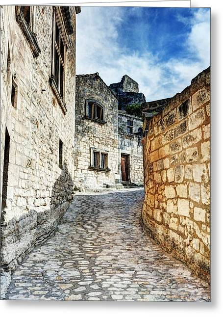 Medieval Village Greeting Cards - Les Baux de Provence 10 Greeting Card by Mel Steinhauer