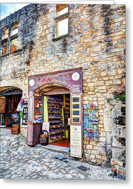 Medieval Village Greeting Cards - Les Baux de provence 11 Greeting Card by Mel Steinhauer