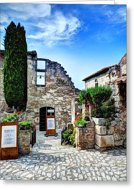 Medieval Village Greeting Cards - Les Baux de Provence 16 Greeting Card by Mel Steinhauer