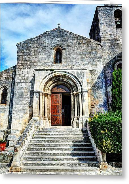 Wooden Stairs Greeting Cards - Les Baux de provence 18 Greeting Card by Mel Steinhauer