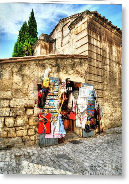 Medieval Village Greeting Cards - Les Baux de Provence 7 Greeting Card by Mel Steinhauer