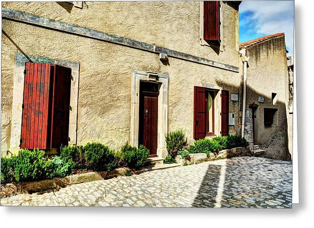 Medieval Village Greeting Cards - Les Baux de Provence 8 Greeting Card by Mel Steinhauer
