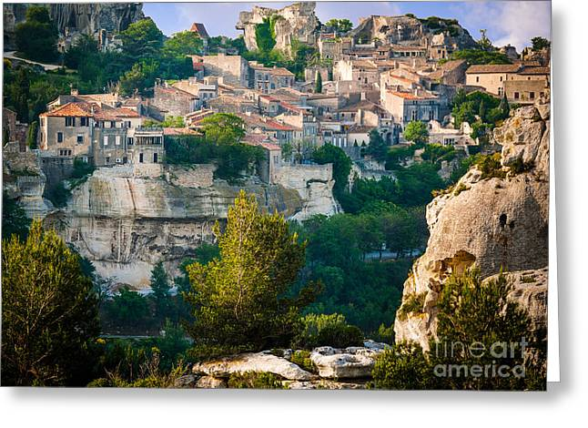 Les Greeting Cards - Les-Baux-de-Provence Greeting Card by Inge Johnsson
