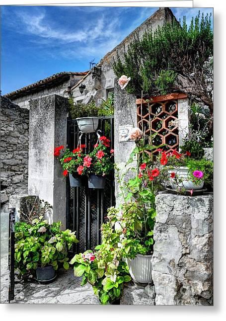 Les Baux De Provence Greeting Card by Mel Steinhauer