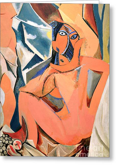Pablo Picasso Greeting Cards - Les Demoiselles dAvignon Picasso Detail Greeting Card by RicardMN Photography