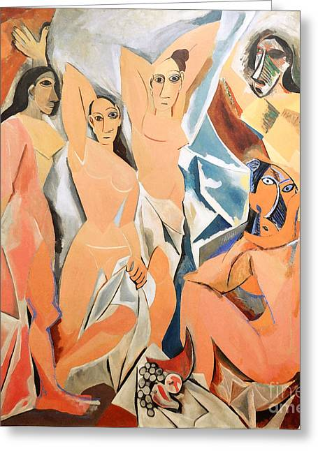 Demoiselles Greeting Cards - Les Demoiselles DAvignon Picasso Greeting Card by RicardMN Photography