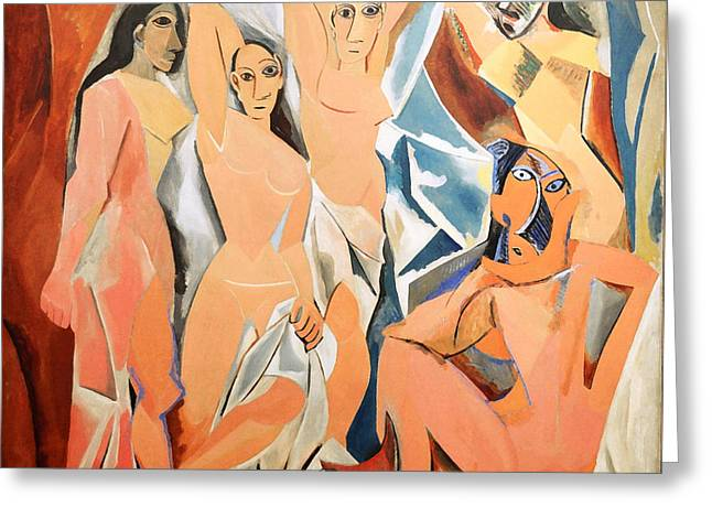 Pablo Picasso Greeting Cards - Les Demoiselles DAvignon Picasso Greeting Card by RicardMN Photography