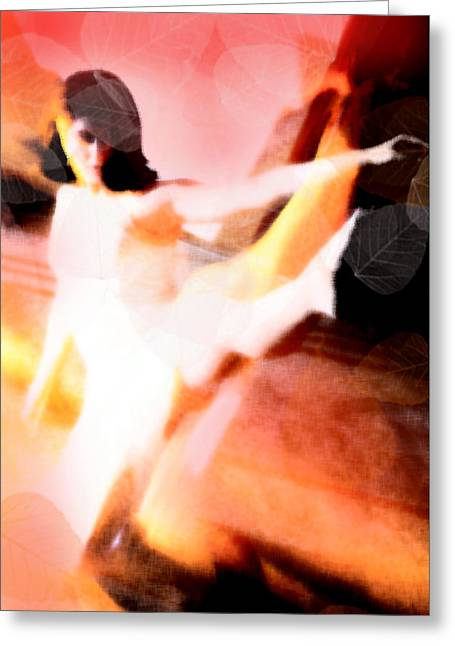 Ballet Dancers Greeting Cards - Les Feuilles Morts Greeting Card by Martina  Rathgens