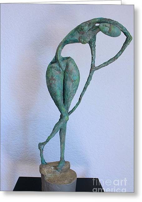 Nude Sculptures Greeting Cards - Les filles de lAsse 3 Greeting Card by Flow Fitzgerald