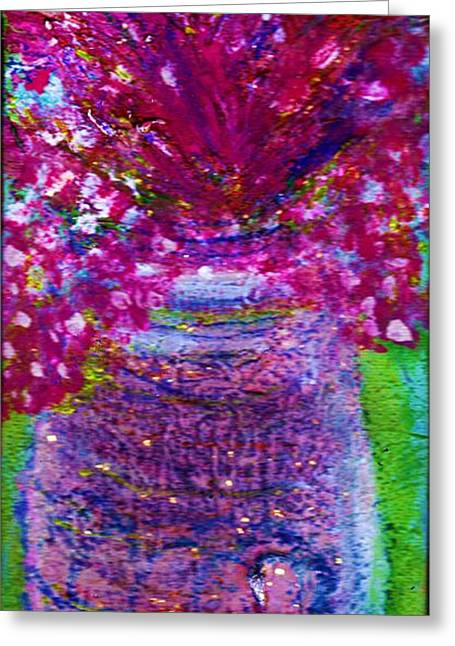 Les Fleurs Greeting Cards - Les Fleurs II Greeting Card by Anne-Elizabeth Whiteway