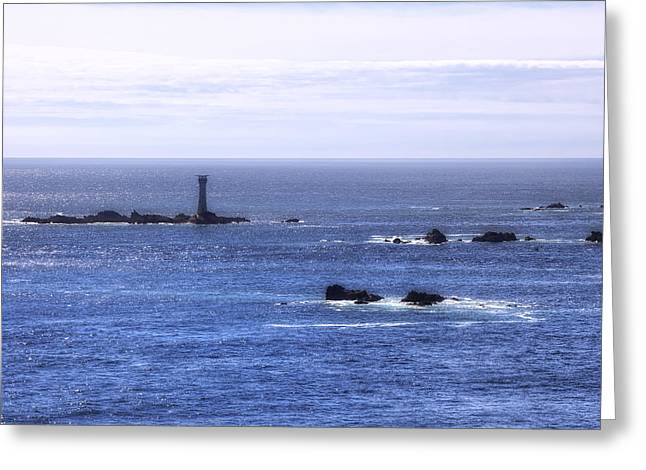 Les Greeting Cards - Les Hanois Lighthouse - Guernsey Greeting Card by Joana Kruse