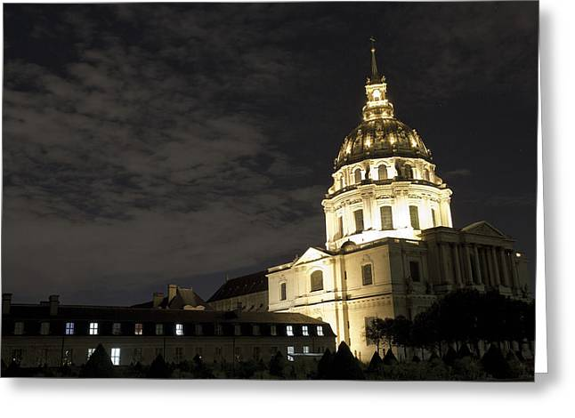 Invalids Greeting Cards - Les Invalides - Eglise Du Dome At Night - 2 Greeting Card by Hany Jadaa  Prince John Photography