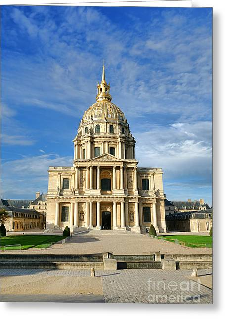 Les Invalides Greeting Card by Olivier Le Queinec