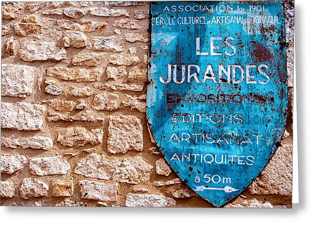 Recently Sold -  - South West France Greeting Cards - Les Jurandes Bonaguil Greeting Card by Nomad Art And  Design