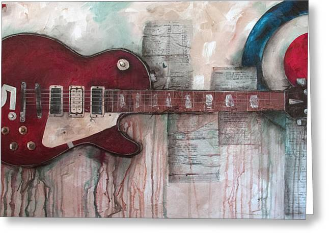 The Les Paul Guitar Greeting Cards - Les Paul number 5 Greeting Card by Sean Parnell