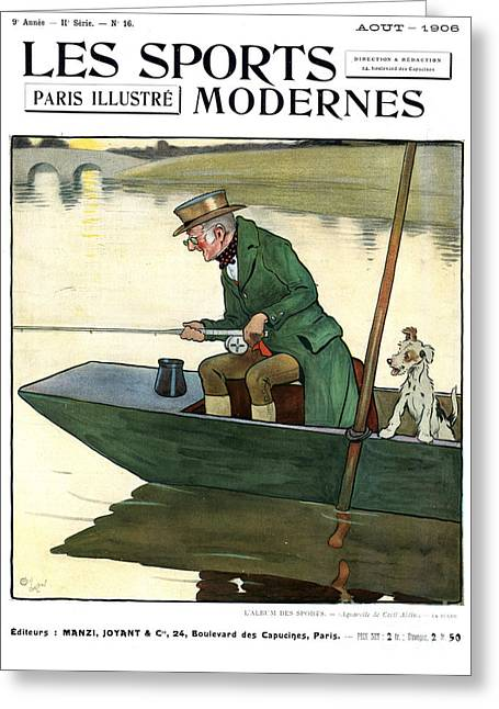Twentieth Century Greeting Cards - Les Sports Modernes 1906 1900s France Greeting Card by The Advertising Archives