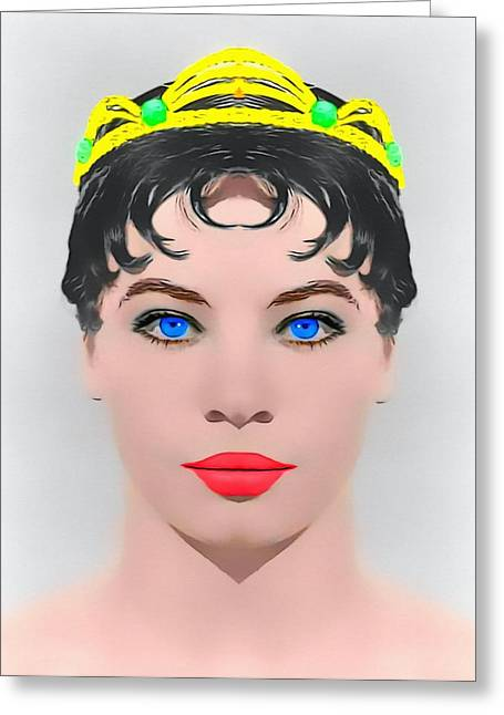1955 Movies Mixed Media Greeting Cards - Leslie Caron alias in The Glass Slipper Greeting Card by Art Cinema Gallery