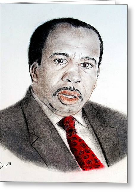 Bad Drawing Greeting Cards - Leslie David Baker as Stanley Hudson on The Office  Greeting Card by Jim Fitzpatrick