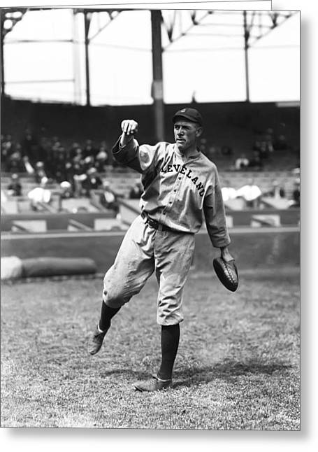 Baseball Glove Greeting Cards - Leslie G. Les Nunamaker Greeting Card by Retro Images Archive