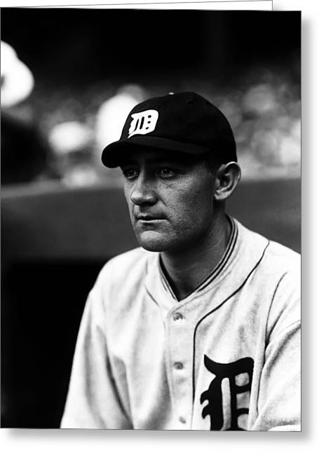 Detroit Tigers Photos Greeting Cards - Leslie K. Buck Burke Greeting Card by Retro Images Archive