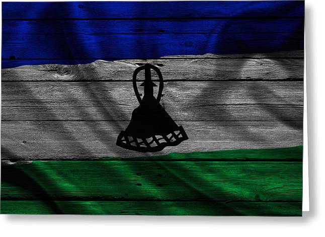 Continent Greeting Cards - Lesotho Greeting Card by Joe Hamilton