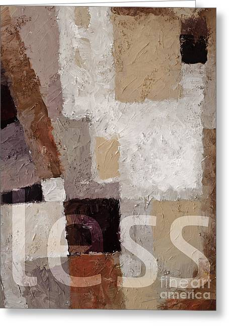 Less Greeting Card by Lutz Baar