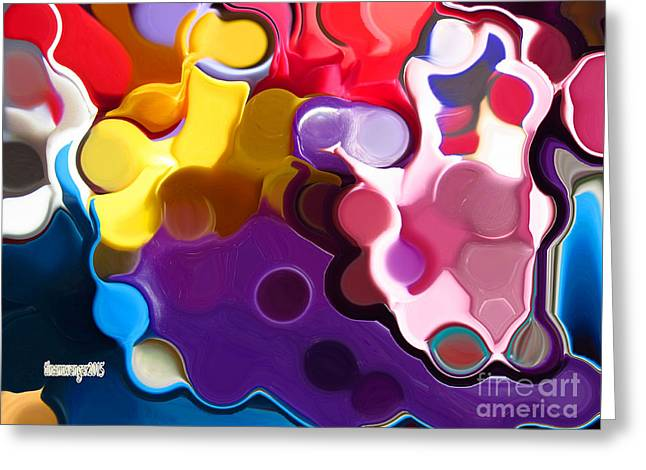 Enhanced Greeting Cards - Lessons Greeting Card by Tina M Wenger