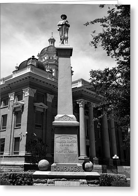 Confederate Monument Greeting Cards - Lest We Forget Greeting Card by David Lee Thompson