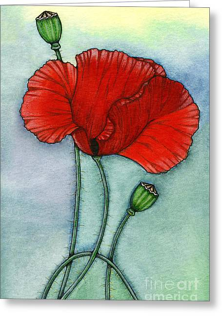 Nora Blansett Mixed Media Greeting Cards - Lest We Forget Greeting Card by Nora Blansett