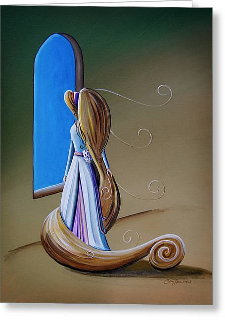 Rapunzel Greeting Cards - Let Down Your Hair Greeting Card by Cindy Thornton