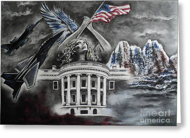 Washington D.c. Pastels Greeting Cards - Let Freedom Ring Greeting Card by Carla Carson