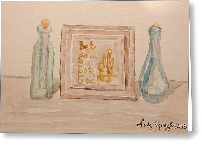 Jo Anne Neely Gomez Paintings Greeting Cards - Let go Let God Greeting Card by Jo Anne Neely Gomez