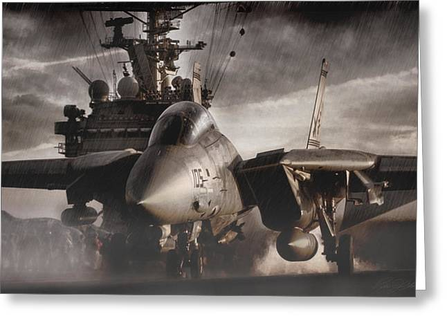 Storm Digital Art Greeting Cards - Let It Rain Greeting Card by Peter Chilelli