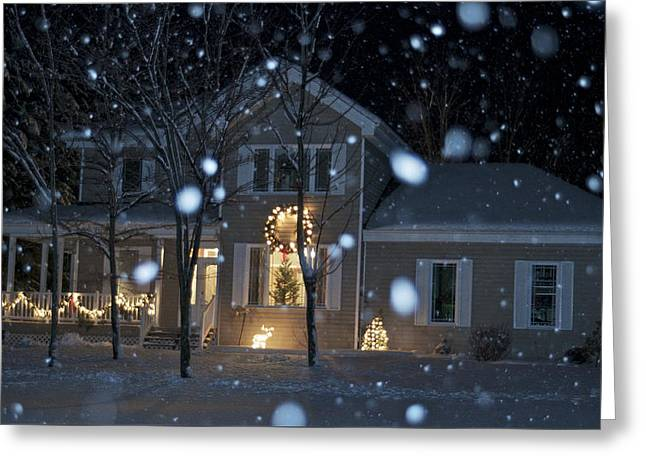 Christmas Eve Greeting Cards - Let It Snow Greeting Card by Alain  Gagnon
