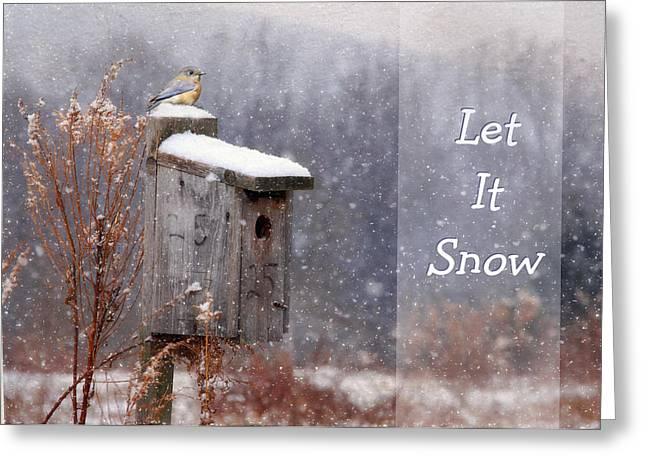 Christmas Greeting Greeting Cards - Let It Snow - Bluebirds Greeting Card by Lori Deiter