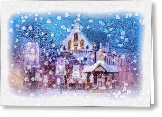 Christmas Greeting Greeting Cards - Let it Snow Greeting Card by Mo T