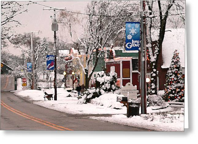 Long Street Greeting Cards - Let it snow...let it snow...let it snow Greeting Card by David Bearden