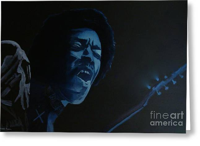 Voodoo Chile Greeting Cards - Let Jimi Take Over Greeting Card by Stuart Engel