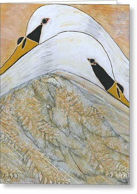 Assurance Greeting Cards - Let Me Hold You Greeting Card by Nancy TeWinkel Lauren