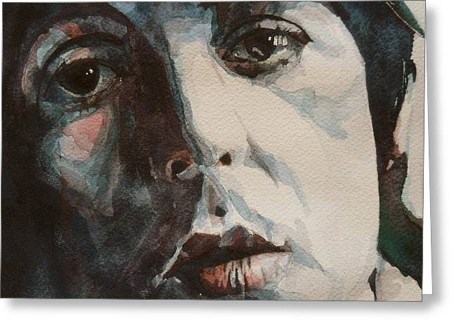 Beatles Canvas Greeting Cards - Let Me Roll It Greeting Card by Paul Lovering
