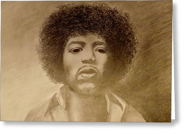 Famous African Americans Drawings Greeting Cards - Let Me Stand Next To Your Fire Greeting Card by Elizabeth Sullivan