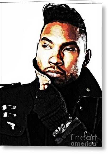 Rnb Greeting Cards - Let My Brush Adorn You Greeting Card by The DigArtisT