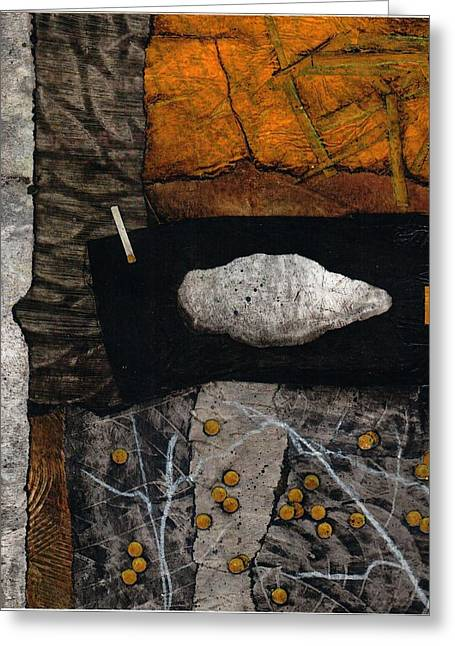 Abstract Collage Greeting Cards - Let Nature enter your body  Greeting Card by Laura  Lein-Svencner