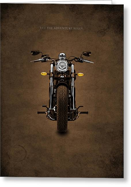 Motorcycles Greeting Cards - Let The Adventure Begin Greeting Card by Mark Rogan
